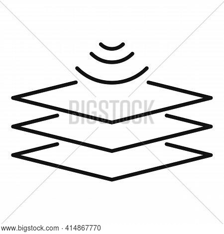 Audio Absorption Panel Icon. Outline Audio Absorption Panel Vector Icon For Web Design Isolated On W