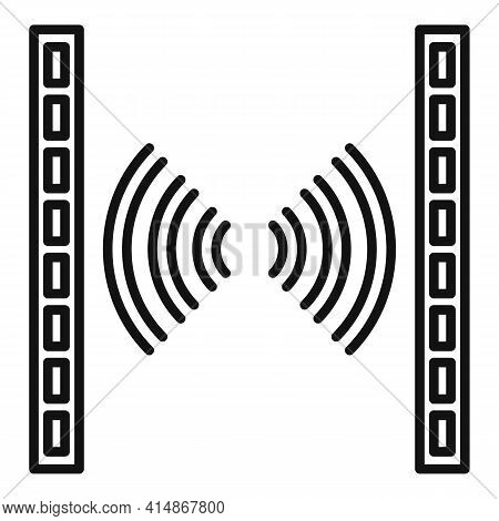Soundproofing Barrier Icon. Outline Soundproofing Barrier Vector Icon For Web Design Isolated On Whi