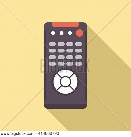 Channel Remote Control Icon. Flat Illustration Of Channel Remote Control Vector Icon For Web Design