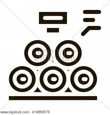 Wood Trunks Glyph Icon Vector. Wood Trunks Sign. Isolated Symbol Illustration