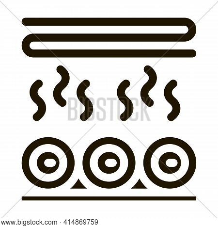 Wood Trunk Drying Glyph Icon Vector. Wood Trunk Drying Sign. Isolated Symbol Illustration