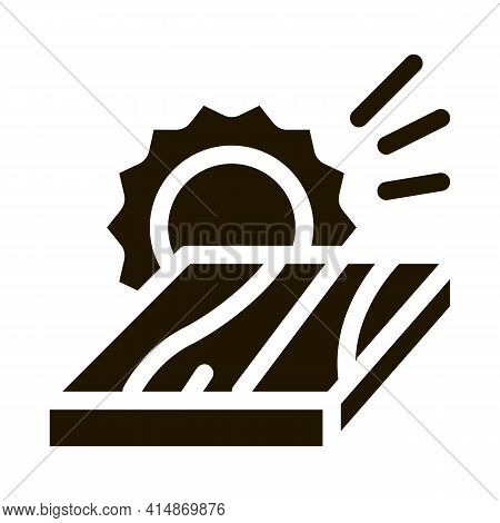 Wooden Plank Cutting Glyph Icon Vector. Wooden Plank Cutting Sign. Isolated Symbol Illustration