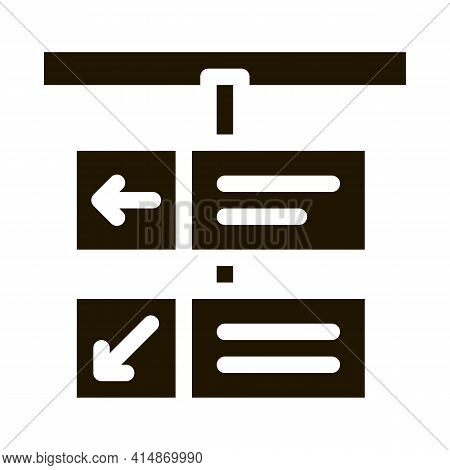 Railway Gate Direction Glyph Icon Vector. Railway Gate Direction Sign. Isolated Symbol Illustration