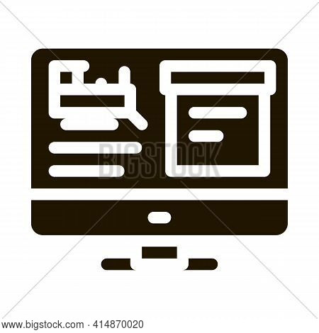 Internet Train Timetable Glyph Icon Vector. Internet Train Timetable Sign. Isolated Symbol Illustrat