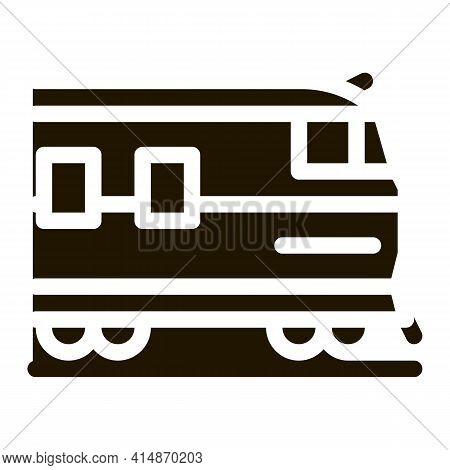 Suburban Electric Train Glyph Icon Vector. Suburban Electric Train Sign. Isolated Symbol Illustratio