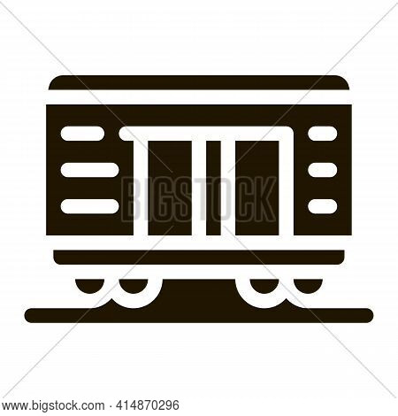 Freight Wagon Glyph Icon Vector. Freight Wagon Sign. Isolated Symbol Illustration
