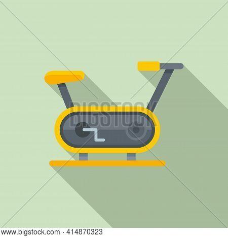 Race Exercise Bike Icon. Flat Illustration Of Race Exercise Bike Vector Icon For Web Design