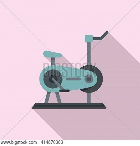 Cardio Exercise Bike Icon. Flat Illustration Of Cardio Exercise Bike Vector Icon For Web Design