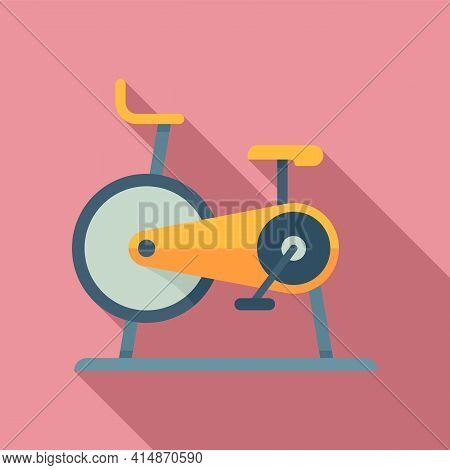 Stationary Exercise Bike Icon. Flat Illustration Of Stationary Exercise Bike Vector Icon For Web Des
