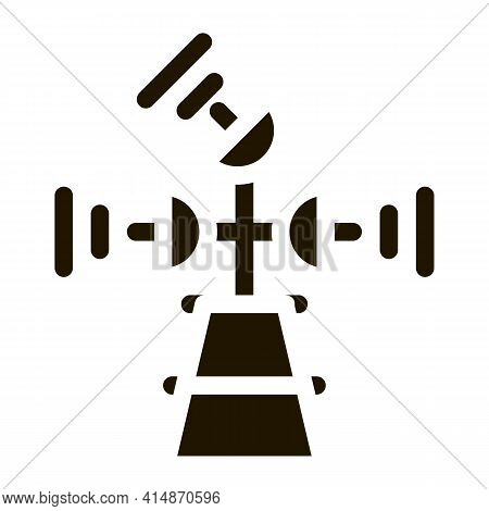 Air Navigation Radar Tower Glyph Icon Vector. Air Navigation Radar Tower Sign. Isolated Symbol Illus