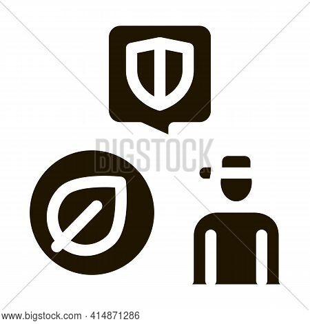 Forestry Defender Protector Glyph Icon Vector. Forestry Defender Protector Sign. Isolated Symbol Ill