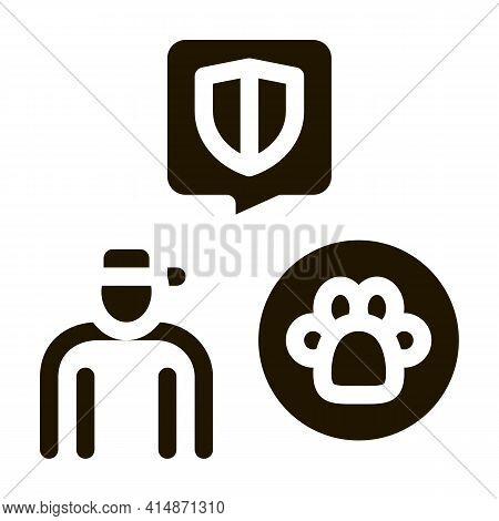 Animal Defender Protector Glyph Icon Vector. Animal Defender Protector Sign. Isolated Symbol Illustr