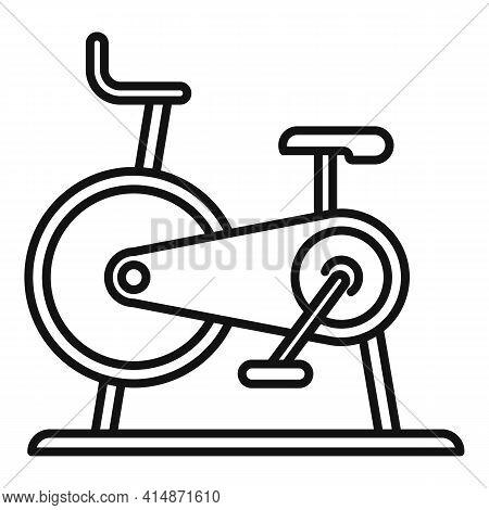Stationary Exercise Bike Icon. Outline Stationary Exercise Bike Vector Icon For Web Design Isolated