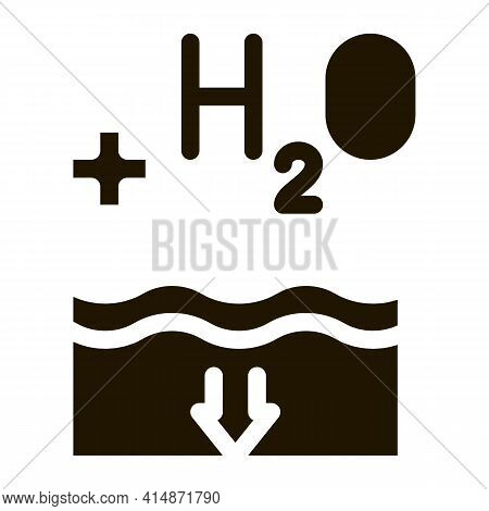 Juice Add Water Glyph Icon Vector. Juice Add Water Sign. Isolated Symbol Illustration