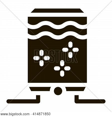 Juice Concentrate Tank Glyph Icon Vector. Juice Concentrate Tank Sign. Isolated Symbol Illustration