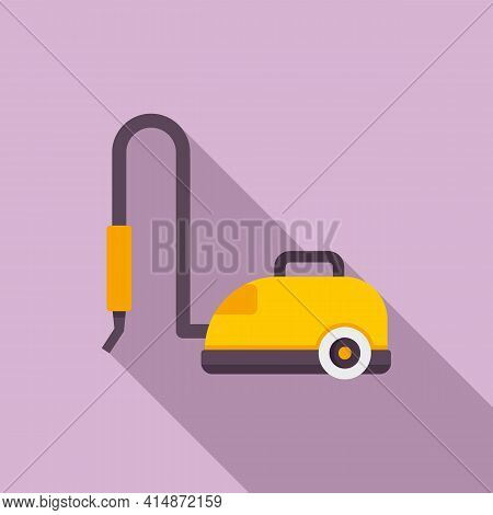 Vacuum Steam Cleaner Icon. Flat Illustration Of Vacuum Steam Cleaner Vector Icon For Web Design