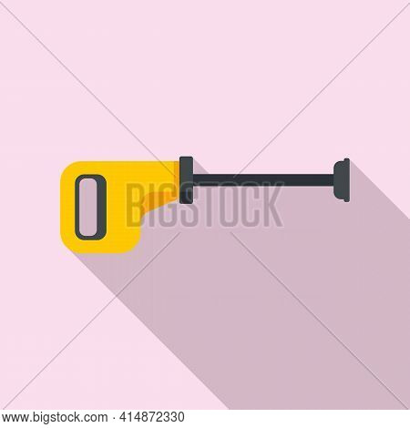 Domestic Steam Cleaner Icon. Flat Illustration Of Domestic Steam Cleaner Vector Icon For Web Design