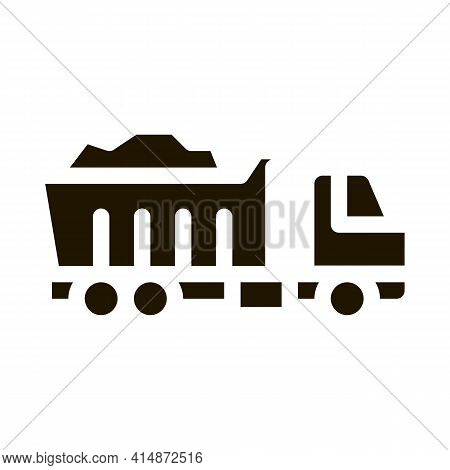 Road Repair Truck Glyph Icon Vector. Road Repair Truck Sign. Isolated Symbol Illustration