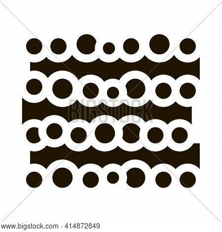 Tree Trunk Heap Glyph Icon Vector. Tree Trunk Heap Sign. Isolated Symbol Illustration