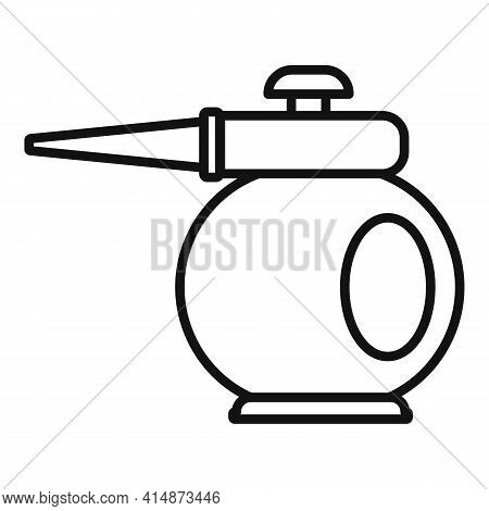 Steam Cleaner Pot Icon. Outline Steam Cleaner Pot Vector Icon For Web Design Isolated On White Backg