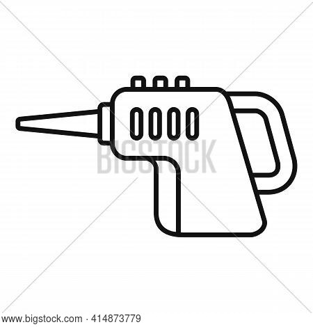 Dry Steam Cleaner Icon. Outline Dry Steam Cleaner Vector Icon For Web Design Isolated On White Backg