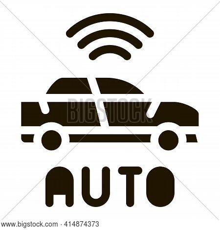 Electro Auto Car Glyph Icon Vector. Electro Auto Car Sign. Isolated Symbol Illustration