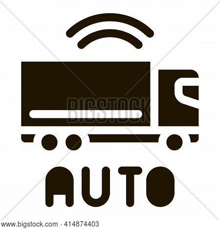 Electro Auto Truck Glyph Icon Vector. Electro Auto Truck Sign. Isolated Symbol Illustration