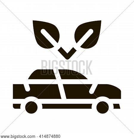 Electro Ecology Environmental Protection Car Glyph Icon Vector. Electro Ecology Environmental Protec