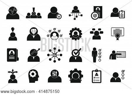 Personal Traits Icons Set. Simple Set Of Personal Traits Vector Icons For Web Design On White Backgr