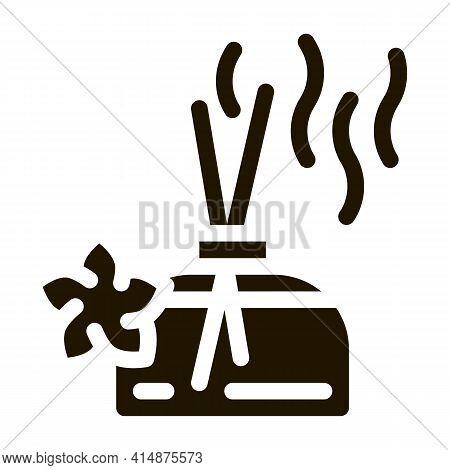 Aroma Odor Parfume Stick Glyph Icon Vector. Aroma Odor Parfume Stick Sign. Isolated Symbol Illustrat