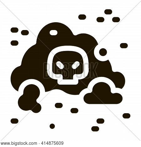 Smell Odor Smoke Glyph Icon Vector. Smell Odor Smoke Sign. Isolated Symbol Illustration