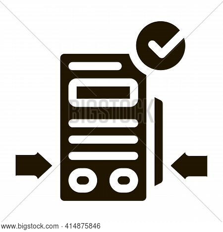 Pos Terminal Device Glyph Icon Vector. Pos Terminal Device Sign. Isolated Symbol Illustration