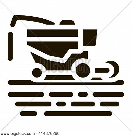 Soy Harvesting Machine Glyph Icon Vector. Soy Harvesting Machine Sign. Isolated Symbol Illustration