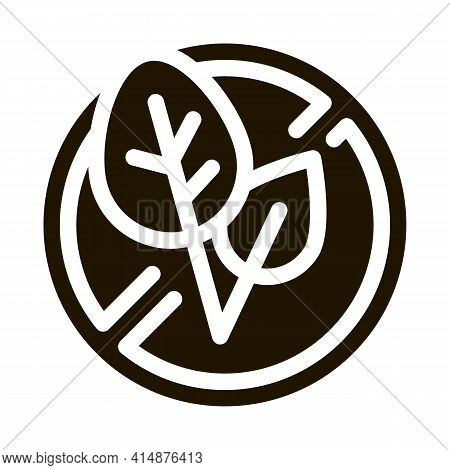 Soy Leaves Crossed Out Sign Glyph Icon Vector. Soy Leaves Crossed Out Sign Sign. Isolated Symbol Ill