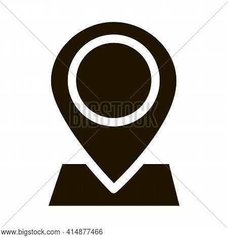 Webshop Gps Location Mark Glyph Icon Vector. Webshop Gps Location Mark Sign. Isolated Symbol Illustr