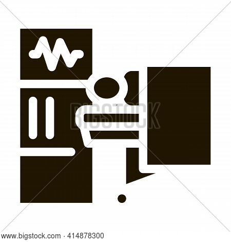 Patient And Surgeon Medical Equipment Glyph Icon Vector. Patient And Surgeon Medical Equipment Sign.