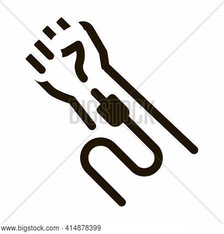Intravenous Injection Glyph Icon Vector. Intravenous Injection Sign. Isolated Symbol Illustration