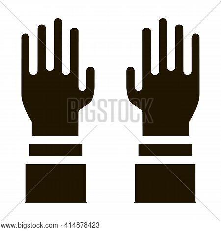 Surgeon Gloves Glyph Icon Vector. Surgeon Gloves Sign. Isolated Symbol Illustration