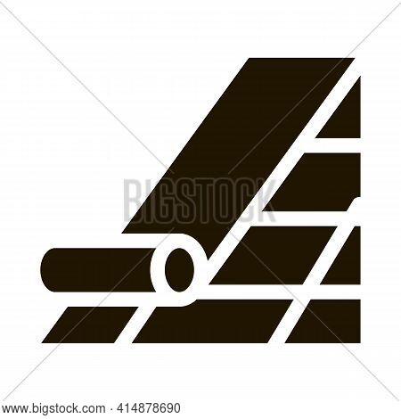 Roof Bitumen Shingle Glyph Icon Vector. Roof Bitumen Shingle Sign. Isolated Symbol Illustration