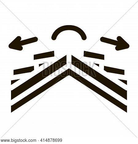 Roof Ceramic Tile Scheme Glyph Icon Vector. Roof Ceramic Tile Scheme Sign. Isolated Symbol Illustrat