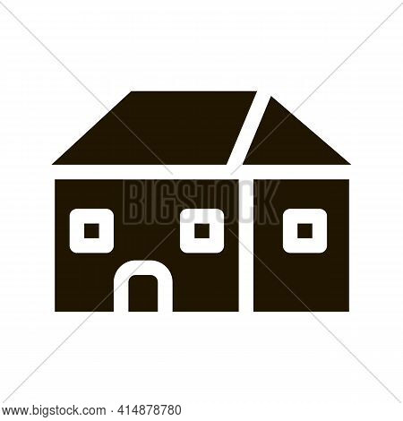 Building Roof Type Glyph Icon Vector. Building Roof Type Sign. Isolated Symbol Illustration