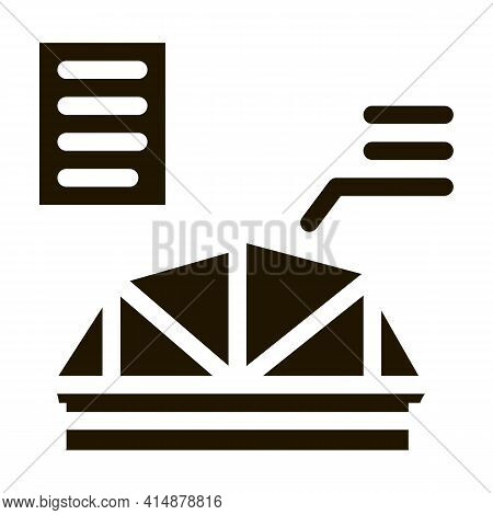 Wooden Roof Skeleton Glyph Icon Vector. Wooden Roof Skeleton Sign. Isolated Symbol Illustration