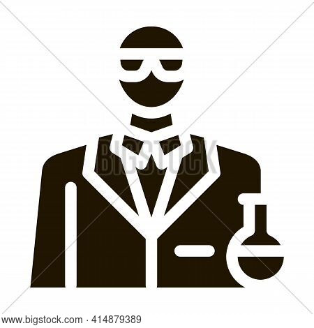 Chemist Profession Glyph Icon Vector. Chemist Profession Sign. Isolated Symbol Illustration