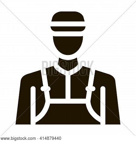 Barista Profession Glyph Icon Vector. Barista Profession Sign. Isolated Symbol Illustration
