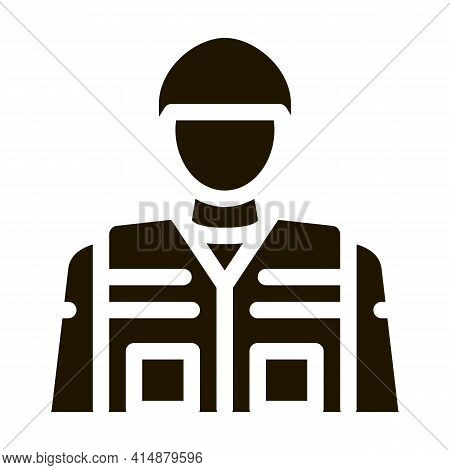 Soldier Profession Glyph Icon Vector. Soldier Profession Sign. Isolated Symbol Illustration