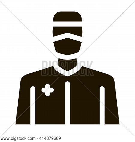 Doctor Profession Glyph Icon Vector. Doctor Profession Sign. Isolated Symbol Illustration