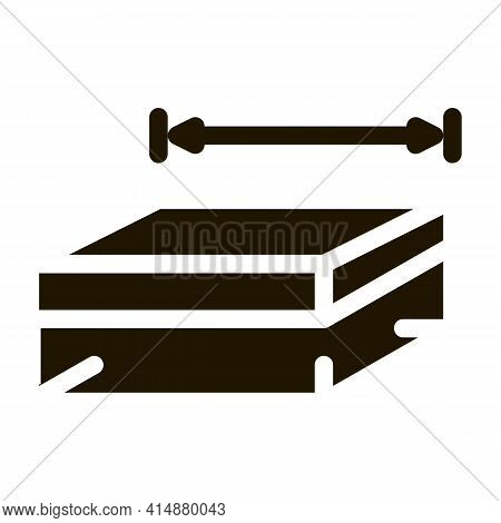 House Foundation Marking Glyph Icon Vector. House Foundation Marking Sign. Isolated Symbol Illustrat