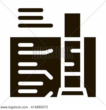 House Foundation Structure Glyph Icon Vector. House Foundation Structure Sign. Isolated Symbol Illus