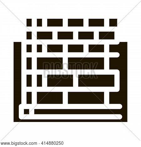 Block Foundation Glyph Icon Vector. Block Foundation Sign. Isolated Symbol Illustration