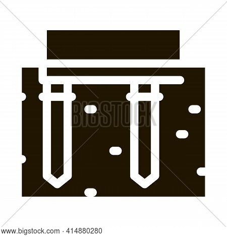Pile Foundation Glyph Icon Vector. Pile Foundation Sign. Isolated Symbol Illustration